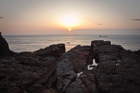 Taejongdae Sunrise Over Cliffs